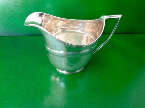 Antique Georgian Silver Creamer / Milk Jug - Emes 1805 (1 of 1)