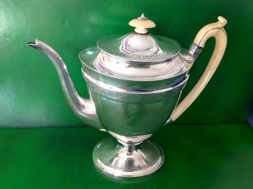 Elegant Antique Georgian Silver Coffee Pot - Emes 1801 (1 of 6)