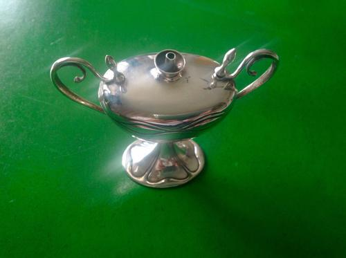 Antique Edwardian Silver Table Lighter -1903 (1 of 1)