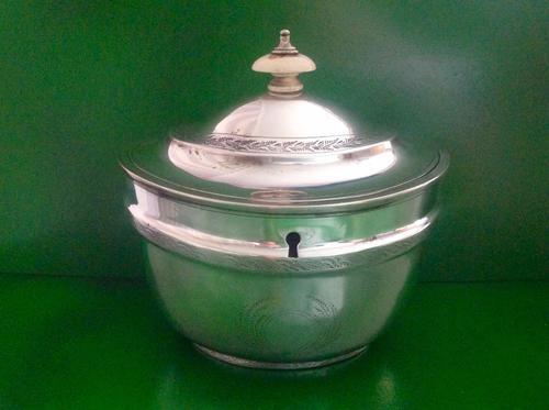 Large Antique Georgian Silver Tea Caddy - 1803 (1 of 1)