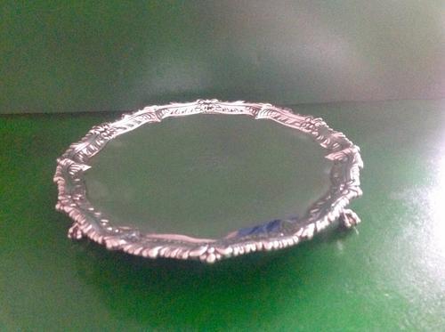 Antique Georgian Silver Salver -1759 (1 of 1)