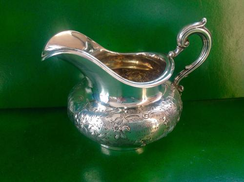 Antique Victorian Silver Gilded Jug -1845 (1 of 7)
