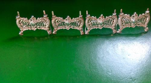 Set of 4 Antique Victorian Silver Menu / Place Name Holders -1897 (1 of 1)