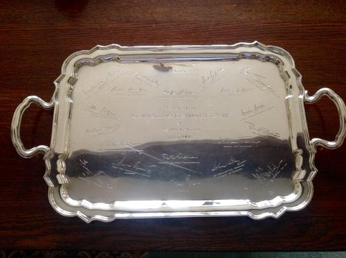 Antique Hallmarked Silver Drinks Tray - 1921 (1 of 1)