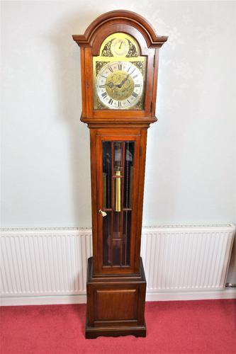 Good Quality Early 20th Century Astragal Glazed Triple Weight Mahogany Grandfather Longcase Clock (1 of 7)