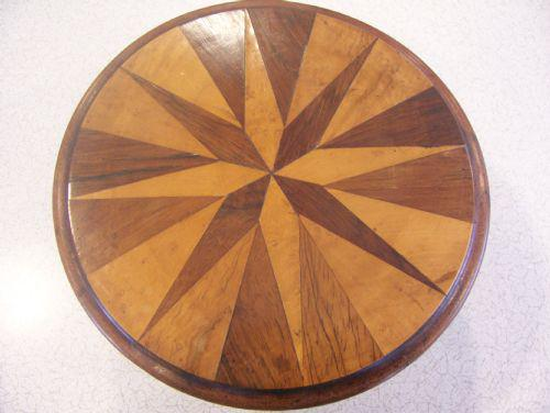 Miniature Apprentice Piece Inlaid Tilt Top Table (1 of 1)