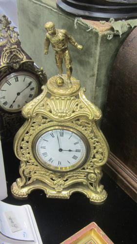 "Brass Footballer ""trophy"" Clock c.1900-1920 (1 of 1)"