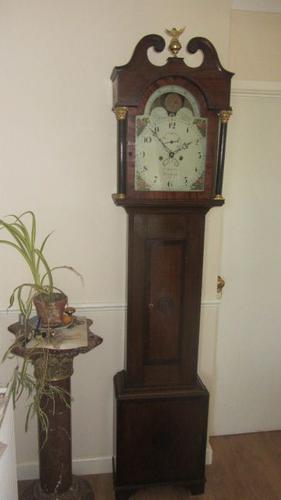 Minehead 19th Century Moon Phase Oak Longcase Clock (1 of 1)