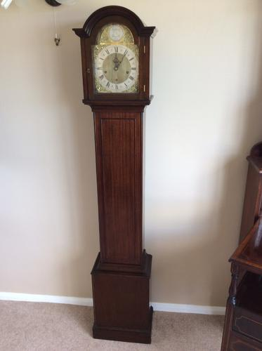 Mahogany Grandmother Longcase Miniature Grandfather Clock - delivery / set up options (1 of 1)
