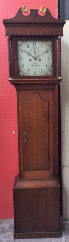 Small Georgian 8 Day Longcase Grandfather Clock - Thomas Nelson (1 of 1)