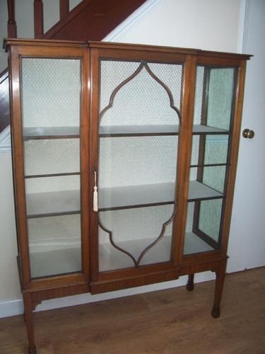 Edwardian Mahogany Breakfront Display Cabinet (1 of 1)