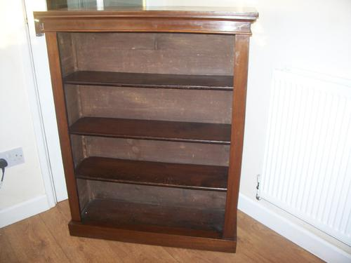 Victorian Mahogany Bookcase with Adjustable Shelves (1 of 1)