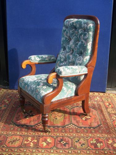 G Minter Reclining Armchair with Leg Rest c.1835 (1 of 1)