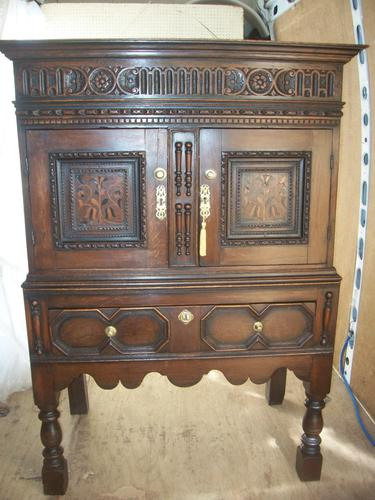 Oak Livery Cabinet on Stand (1 of 1)