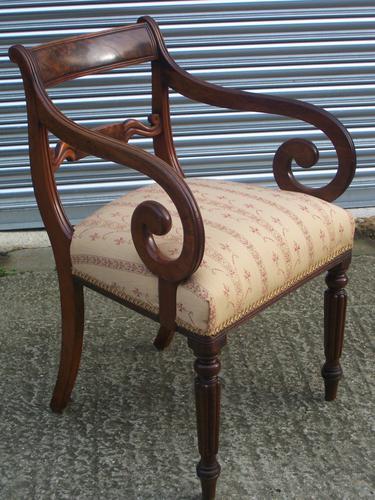 Regency mahogany carver or desk chair (1 of 1)