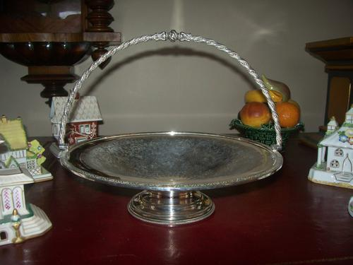 Victorian Silver Plated Cake Stand or Dish (1 of 11)