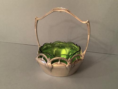 Antique WMF Art Nouveau Silver Plated Basket (1 of 5)