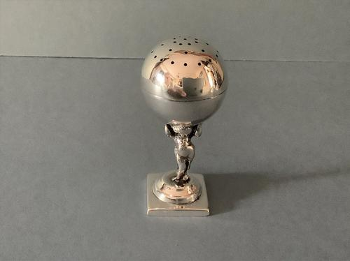 Antique Solid Silver Novelty Pounce Pot (1 of 4)