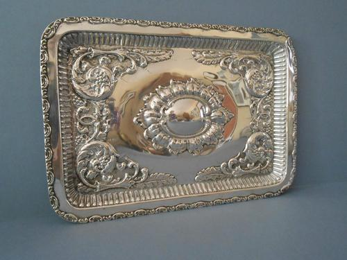 Antique Solid Silver Dressing Table Tray 1911 (1 of 5)