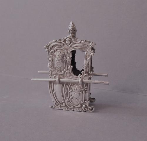Solid Silver Miniature Sedan Chair (1 of 1)