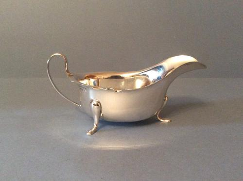 Solid Silver Sauce & Gravy Boat 1935 (1 of 1)