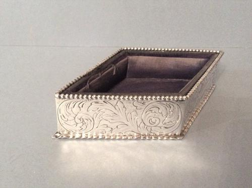 Antique Victorian Silver Jewellery Tray - Comyns (1 of 7)