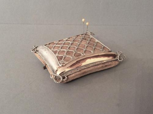 Large Edwardian Solid Silver Pin Cushion - Comyns (1 of 1)