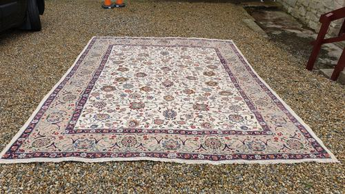 Large Room Size, Signed Antique Persian Tabriz Carpet C1930 (1 of 7)