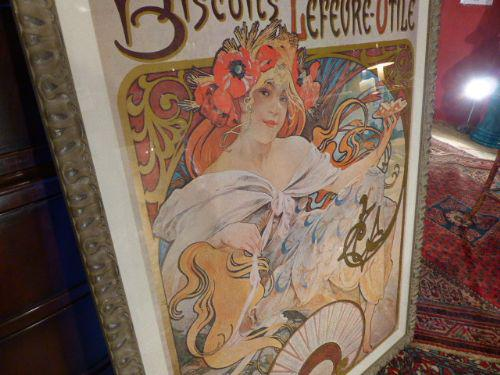 Alphonse Mucha Large Advertising Poster in New Fine Quality Frame QUALITY FRAME (1 of 1)