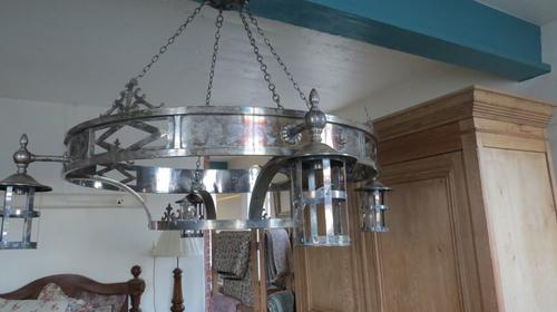 Pair of Arts & Crafts Style Chandeliers, Early 20th Century (1 of 18)