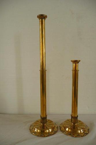 Pair of Extending Brass Candlesticks c.1850 (1 of 1)