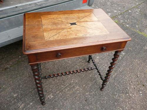 Rosewood Inlaid Side Table c.1850 (1 of 19)