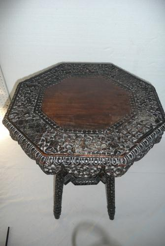 Decorative Carved Side Table c.1900 (1 of 6)