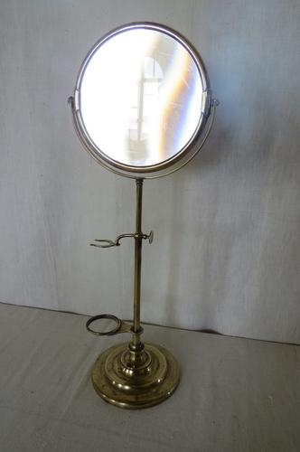 Antique Brass Shaving Mirror C.1910 (1 of 1)