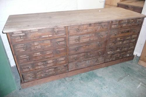 Large Bank of Pine Drawers C.1900 (1 of 1)