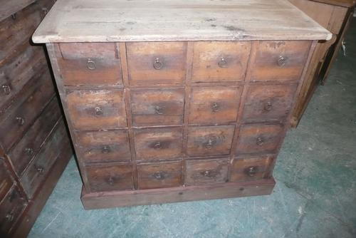 Bank of 19th Century Pine Drawers (1 of 1)