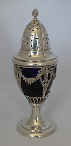 Beautiful 19th Century Continental Silver Sugar Sifter (1 of 7)