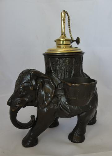 Unusual 19th Century Earthenware Elephant Table Lighter (1 of 6)