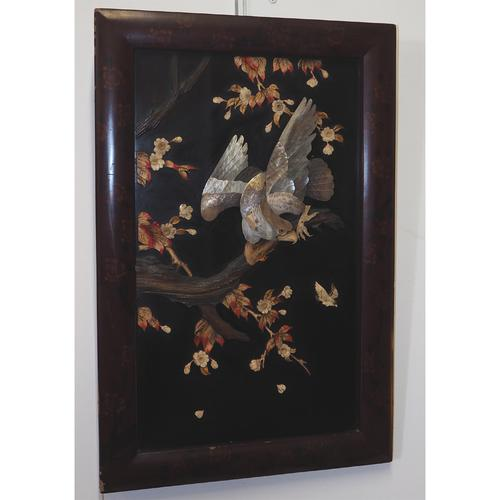 19th Century Japanese Framed Panel (1 of 4)