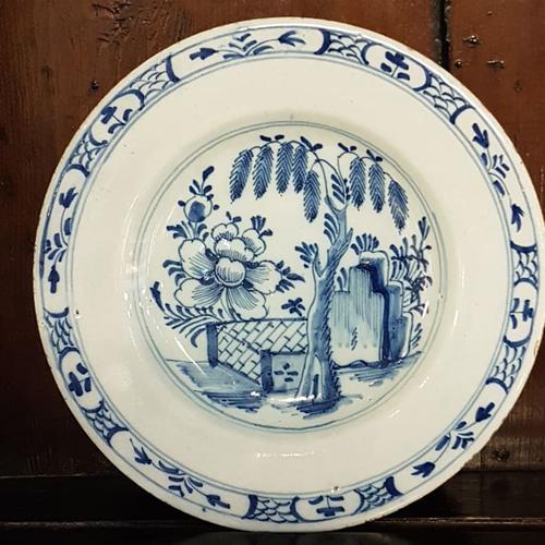 Fine 18th Century English Delft Plate (1 of 1)
