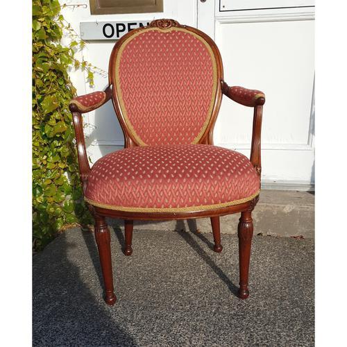 Good 18th Century Dutch Walnut Salon Chair (1 of 6)