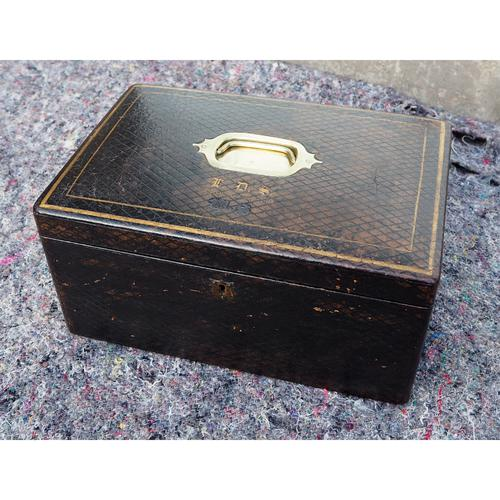 Mid 19th Century Leather Fitted Box (1 of 6)