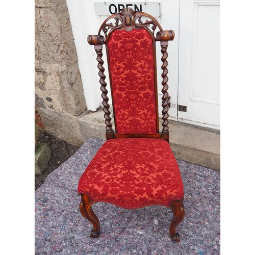 Early Victorian Rosewood Nursing Chair (1 of 7)