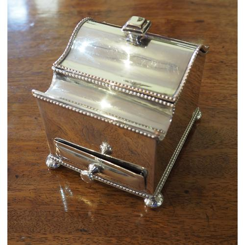 Fine Quality Silver Plated Desk / Ink Stand (1 of 7)