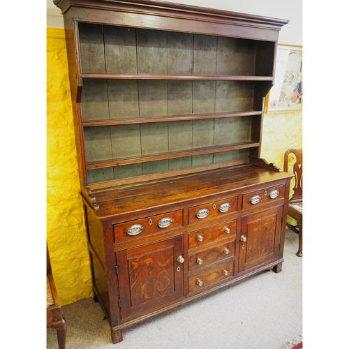 Good Georgian Oak Dresser & Rack (1 of 7)