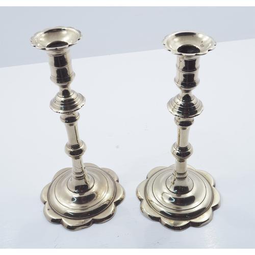 Pair of Georgian Petal Bases Candlesticks (1 of 6)