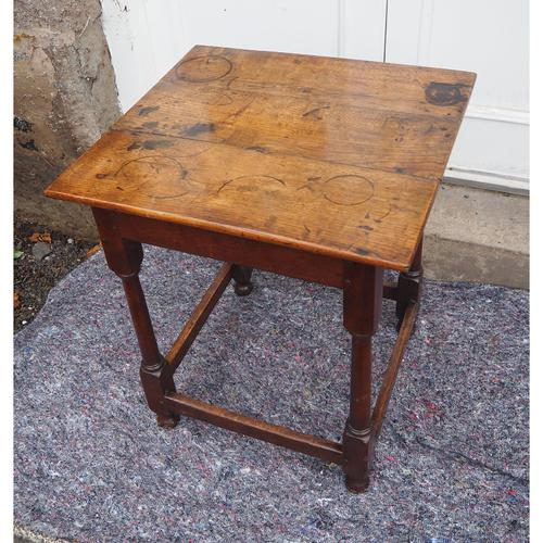 Early 18th Century Oak Occasional Table (1 of 7)