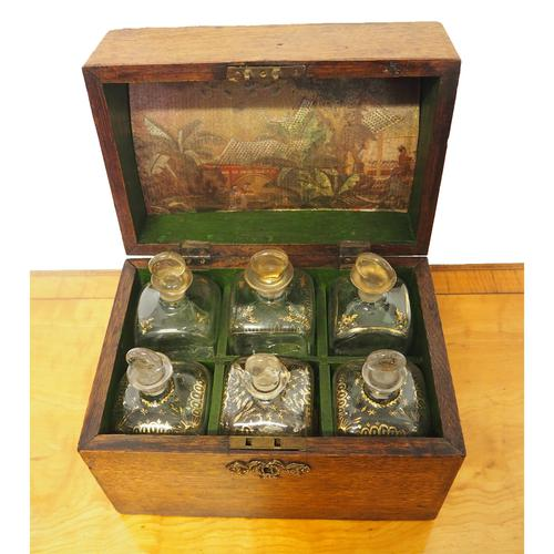 18th Century Oak Decanter Box with Decanters (1 of 1)