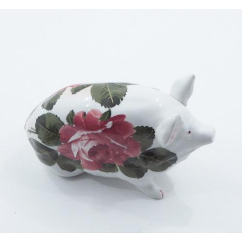 Good Scottish Wemyss Ware Cabbage Roses Pig (1 of 1)