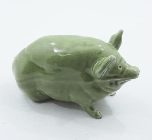 Fine Scottish Wemyss Ware Green Piglet (1 of 1)